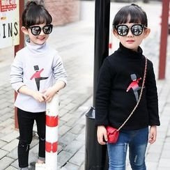 Merry Go Round - Kids Printed High Neck Long-Sleeve T-Shirt
