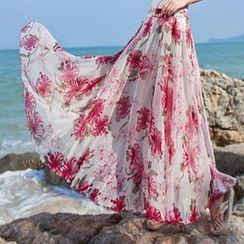 Fumiko - Floral Print Maxi Skirt