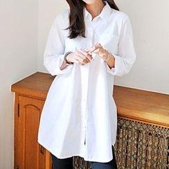 Ashlee - Plain Shirtdress