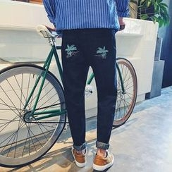 Real Boy - Embroidered Skinny Jeans
