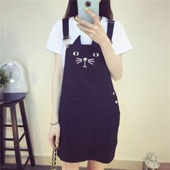 Jolly Club - Embroidered Jumper Dress