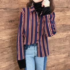 Dute - Striped Mock Two Piece Shirt