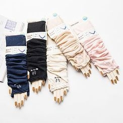LA SHOP - Rabbit Embroidered Driving Gloves