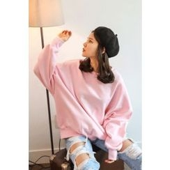 PPGIRL - Round-Neck Loose-Fit Pullover