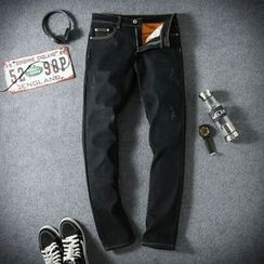Riverland - Fleece-lined Straight Jeans