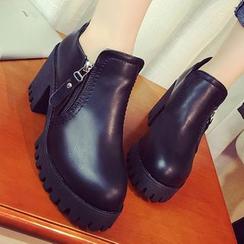 QQ Trend - Platform Block Heel Ankle Boots