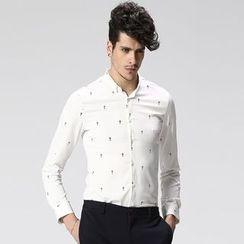 HEIZE - Cross Print Shirt