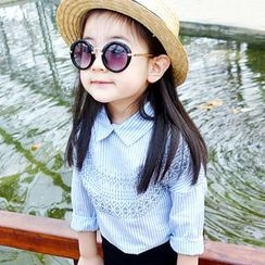 CUBS - 儿童条纹衬衫