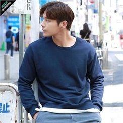 BYMONO - Layered-Hem Colored Sweatshirt