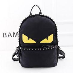 Bibiba - Monster Studded Canvas Backpack