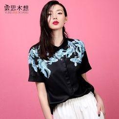 Cloudwood - Fish Print Short-Sleeve Shirt