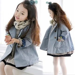 Seashells Kids - Kids Double-Breasted Trench Coat