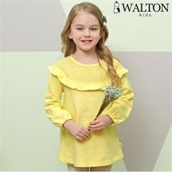 WALTON kids - Girls Set: Frill-Trim T-Shirt + Leggings