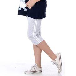 The Mommy Club - Maternity Stripe Capri Pants