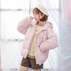 白金天使 - 連帽夾棉外套
