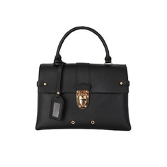 DABAGIRL - Name-Tag Push-Lock Flap Satchel