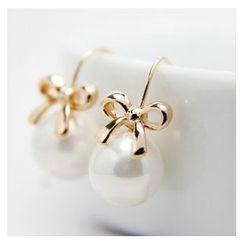 Gioia - Pearl Bow Earrings