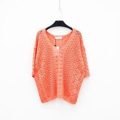 Polaris - Pointelle Knit Top