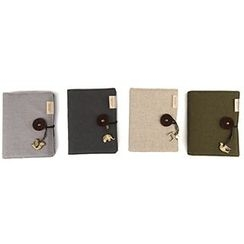 Bookuu - Charm-Accent Cloth Notebook