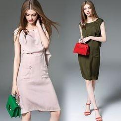 Queen Mulock - Short-Sleeve Dress