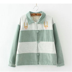 Citree - Embroidered Corduroy Button Jacket
