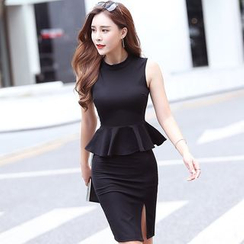 Aurora - Set: Peplum Top + Pencil Skirt