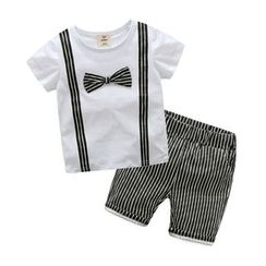 Seashells Kids - Kids Set: Short-Sleeve T-Shirt + Shorts