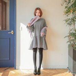 Seoul Fashion - Button-Back Check Mini Dress