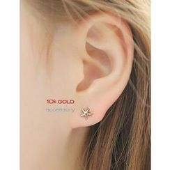 soo n soo - 10K Gold Starfish Earrings