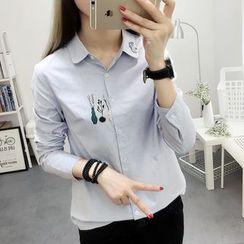 Cobogarden - Printed Long-Sleeve Shirt