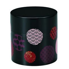 Hakoya - Hakoya Tea Caddy Mizutamamon Black