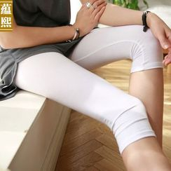 Ranee - Cropped Plain Legging