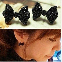 Best Jewellery - Rhinestone Bow Earrings