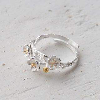 Love Generation - Floral 925 Sterling Silver Ring