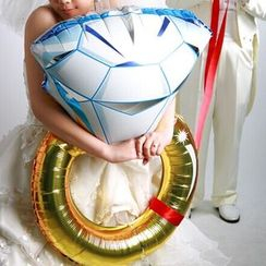 With Love - 鑽石戒指30'鋁箔氣球