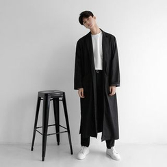 Seoul Homme - Tie-Waist Long Coat