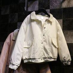 Jade Rabbit - 贴布饰钮扣夹棉夹克