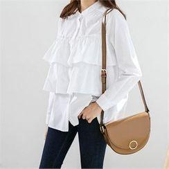 PEPER - Collarless Layered Shirt