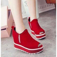 BAYO - 厚底船跟凉鞋