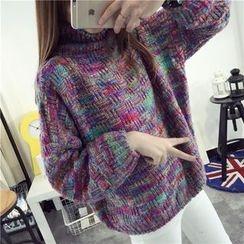 CHERJOE - 粗針織樽領毛衣