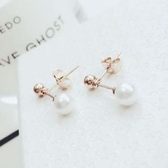 Taimi - Faux-Pearl Drop Earrings