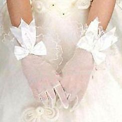 Sky n Sea - Ribbon Lace Wedding Gloves
