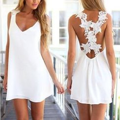 Persephone - Cross Lace Back Sleeveless Dress