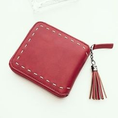 enoi - Faux Leather Wallet with Tassel