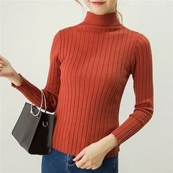 Honey House - Mock-neck Knit Top