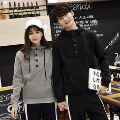 Je T'aime - Couple Matching Buttoned Hoodie
