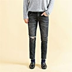 THE COVER - Distressed Washed Pants