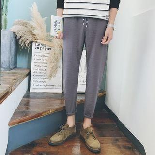 Besto - Cropped Drawstring Pants