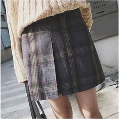 Bloombloom - Plaid Skirt
