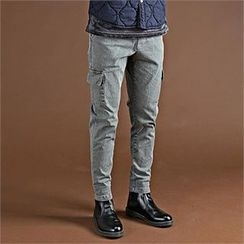 THE COVER - Drawstring-Waist Cargo-Pocket Pants